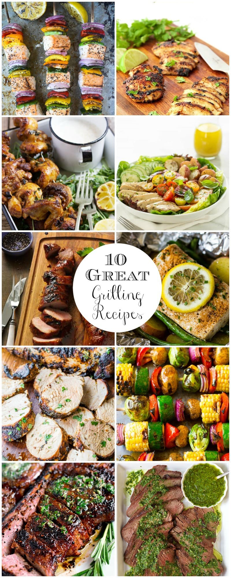 Drool-worthy and crazy delicious, these 10 Great Grilling Recipes from around the web, are perfect for warm weather entertaining!