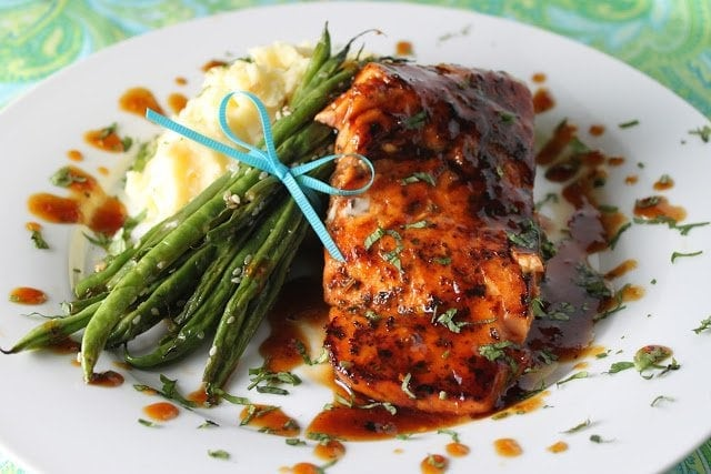 Orange Ginger Salmon with Smokey Mashed Potatoes