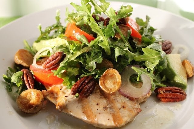 Grilled Chicken Paillards with Arugula Salad, Crispy Potatoes and ...