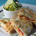 "Grilled Chicken Quesadillas (aka ""something out of nothing""…..) and a Fabulous Avocado-Mango Salsa"