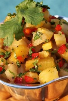 Roasted Pear and Pineapple Salsa