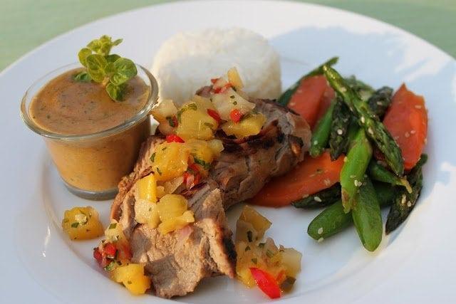 Grilled Asian Pork Tenderloin with Peanut Sauce | The Café ...