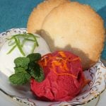 Strawberry Citrus and Coconut Lime Sorbets
