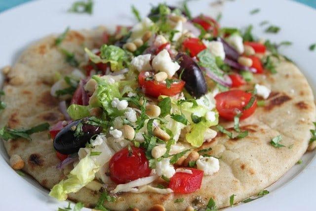 Mediterranean Chicken Pita Wraps