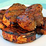 Grilled Pork Chops with Molasses Balsamic Glaze