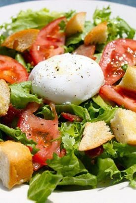 Salad Lyonnaise and Winging Our Way to France, oops, I mean England!