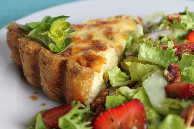 Quiche Lorraine and a Happy One Month Birthday to The Café!