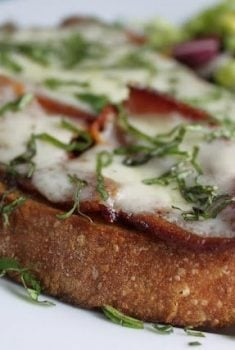 Applewood Bacon, Fig and Fontina Tartines