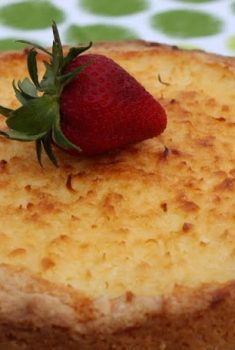 Coconut Macaroon Tart with a Shortbread Crust