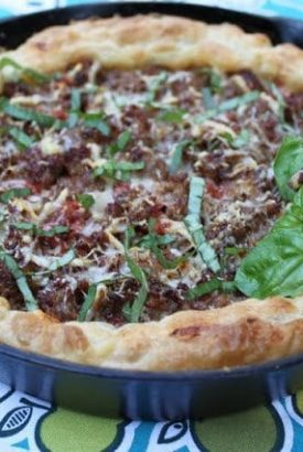 Super Simple, Deep Dish Pizza – with a Surprise Crust!