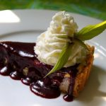 Cheesecake Tart with Blueberry Curd and Cookie Crust