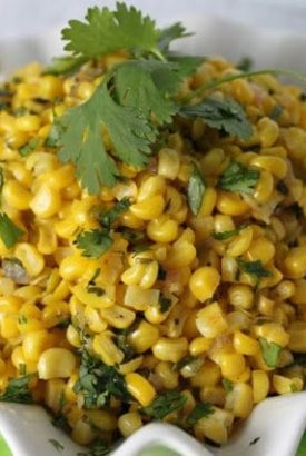Fresh Corn Sauté with Ginger and Cilantro