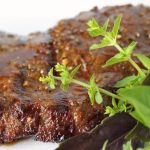 Asian Grilled Flat Iron Steak - With a fabulous ginger-garlic marinade and glaze, it's simply out of this world!
