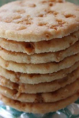 Salted Toffee Shortbread Cookies