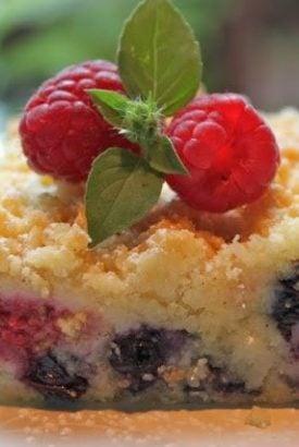 Austrian Raspberry Blueberry Shortbread