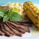 Grilled London Broil with Sweet and Smokey Tomato Salsa