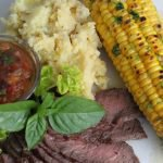 Grill-Roasted Corn with Cilantro-Lime Butter & Skinny Mashed Potatoes