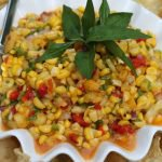 Roasted Corn Salsa with Mango and Fresh Pineapple