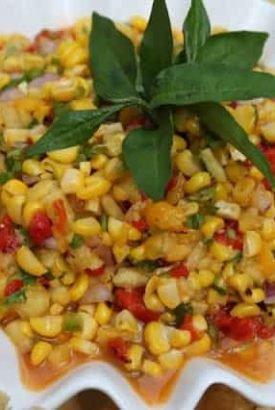 Roasted Corn Salsa with Mango and Fresh Pineapple