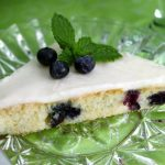 Fabulous White Chocolate and Blueberry Sheet Cake with White Chocolate Buttercream Icing