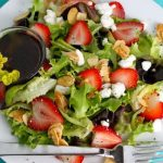 Strawberry Goat Cheese Salad with Pomegranate Vinaigrette….. and a Secret Revealed!