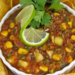 Fire-Roasted Salsa with Fresh Corn and Pineapple