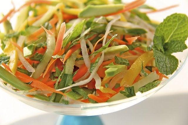 Vietnamese Table Salad with Ginger-Sesame Vinaigrette