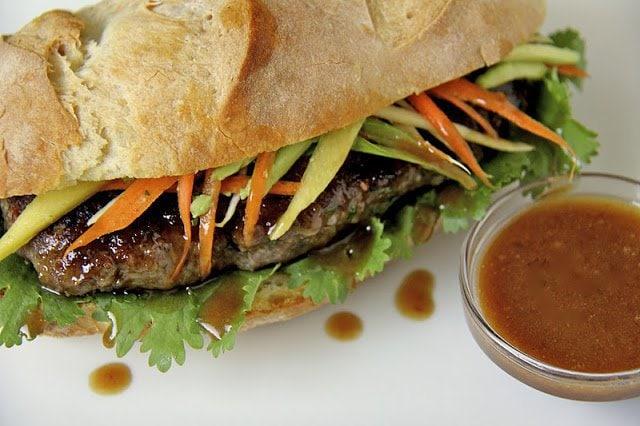 Grilled Vietnamese Banh Mi Sandwiches