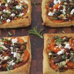 Sweet Potato Galettes with Fresh Herbs, Applewood Bacon and Goat Cheese