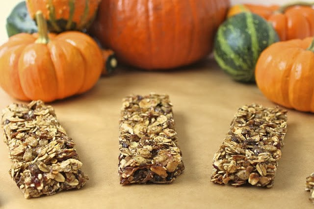 Pumpkin Pie Granola Bars
