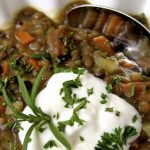 Curried Lentil Soup with Chicken Sausage