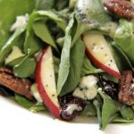 Arugula Salad with Apples, Maple Sea Salt Pecans and Dijon/Maple Vinaigrette