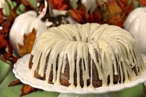 Parsnip Pecan Pound Cake - do you like carrot cake? I thought so! You'll love this warm-spiced pound cake with a fabulous maple cream cheese drizzled icing!
