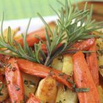 Simple Sticky Roasted Rosemary Root Veggies