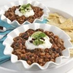 Pork and Chorizo Chili w/ Black Beans and Black-eyed Peas