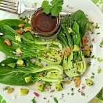 Baby Bok Choy & Avocado Salad w/ Sweet Soy Vinaigrette and Butter Roasted Sesame Cashews