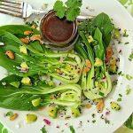 Baby Bok Choy & Avocado Salad w/ Sweet Soy Vinaigrette and Butter Roasted Sesame Cashews