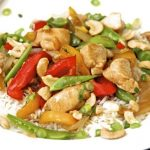 Cashew Ginger Chicken Stir Fry & a Secret Method for Perfect Basmati Rice