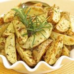 Super Crisp Oven Roasted Baby Potatoes w/ Fresh Rosemary