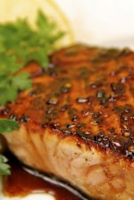 Honey, Ginger & Coriander Glazed Salmon - this salmon is sensational! It's so easy and quick to throw together but definitely company-worthy!!