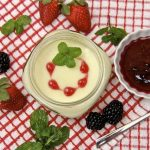 Key Lime & Coconut Milk Panna Cotta w/ Mixed Berry Coulis