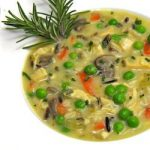 Roasted Chicken and Wild Rice Soup with Parsley, Sage, Rosemary, Thyme