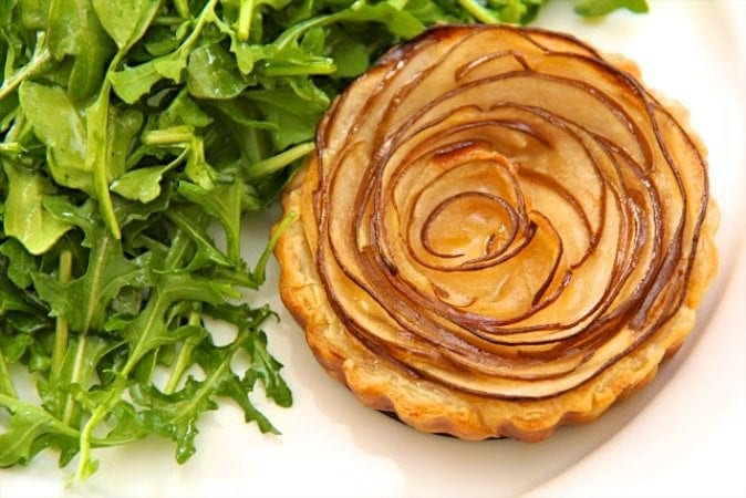Fontina and Pear Tart with Arugula Salad
