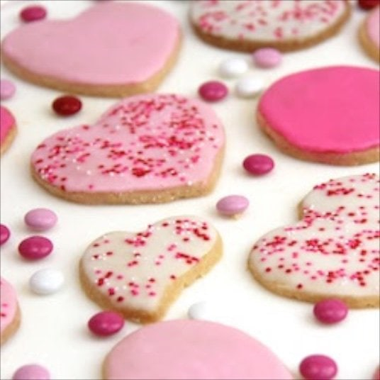 These Valentine Shortbread Cookies are the perfect sweet treat for your sweetheart on Valentine's Day, or anytime. Buttery, crisp and oh, so delicious!