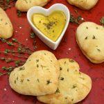 I Love You Focaccia Bread