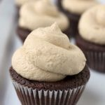 Lindsay's Mini Chocolate Truffle Cupcakes w/ Peanut Butter Icing
