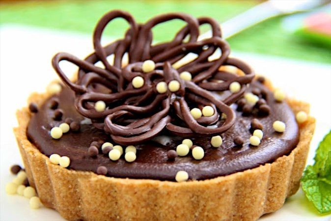 Peanut Butter Tart with Chocolate Ganache - decadent, delicious and dazzling - for your next special celebration, or anytime!