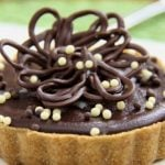 Peanut Butter-Ganache Tart with Shortbread Crust