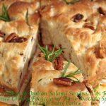 Roasted Chicken & Italian Salami Sandwich on Rosemary & Dried Cherry Focaccia w/ Basil-Avocado Spread