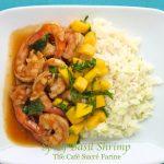 Spicy Basil Shrimp with Coconut Lime Jasmine Rice and Mango Salsa